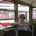 Трамвайный вагон Т-2. Интерьер
