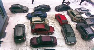 Пятнашки на парковке