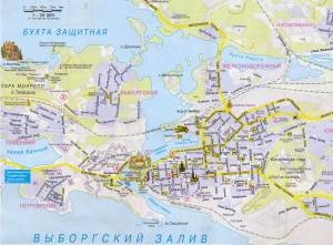 Карта интересных мест в Выборге