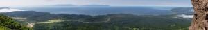 Охотское побережье с вершины вулкана Менделеева