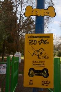 Выдача пакетиков для собак