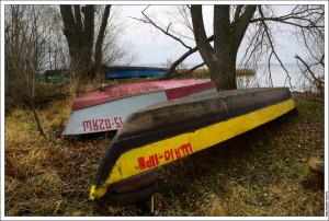 Лодки на Плещеевом озере