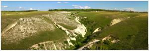 Меловой каньон в Дивногорье