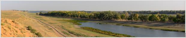 Панорама Ахтубы от Селитренного городища